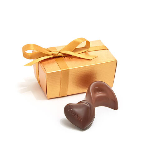 Assorted Chocolate Gold Favor, Personalized Pink Ribbon, 2 pc.