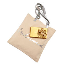 Bridesmaid Tote Bag with Assorted Chocolate Gold Gift Box, 8 pc.