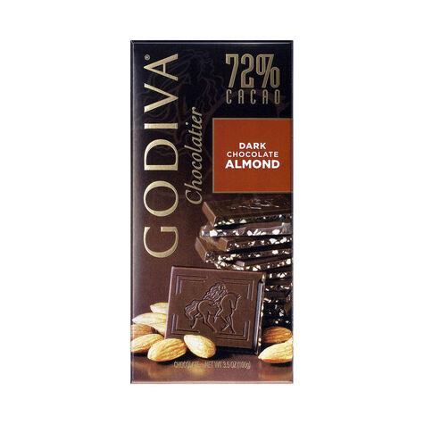 Large 72% Dark Chocolate with Almond Bar Set of 20