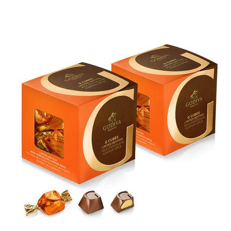 Milk Chocolate Pumpkin Spice G Cube Box, Set of 2, 22 pcs. each