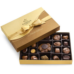 Nut and Caramel Gift Box, Gold Ribbon, 19 pc.