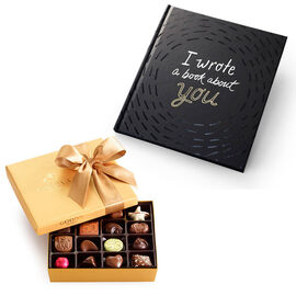 I Wrote A Book About You Book & Assorted Chocolate Gold Gift Box, 19 pcs.