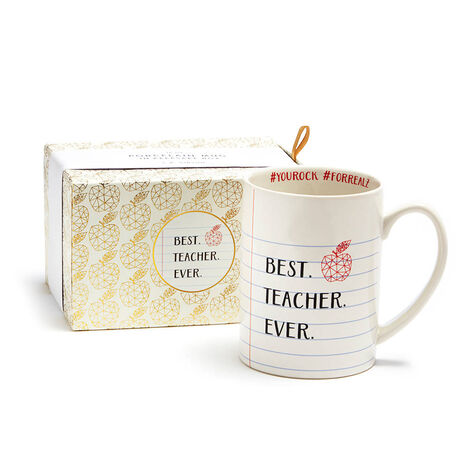 Teacher Mug with Truffle Coffee and Milk Chocolate Biscuits