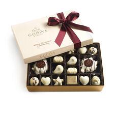 White Chocolate Gift Box, Wine Ribbon, 24 pc.