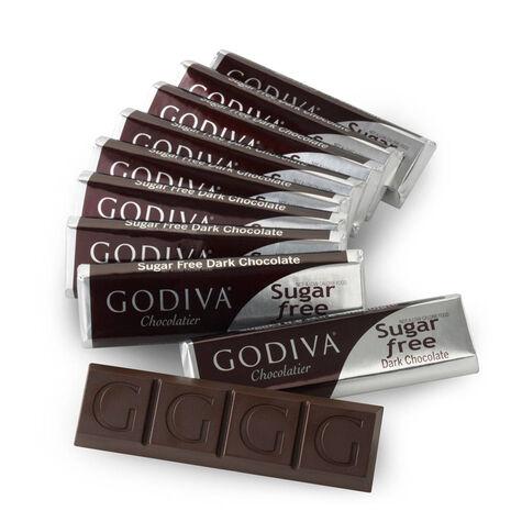 Sugar Free Dark Chocolate Bar, Set of 10, 1.5 oz. each