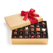 Assorted Chocolate Gold Gift Box, Red Ribbon, 70 pc.