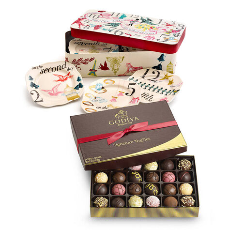 12 Days of Christmas Set with Signature Chocolate Truffles