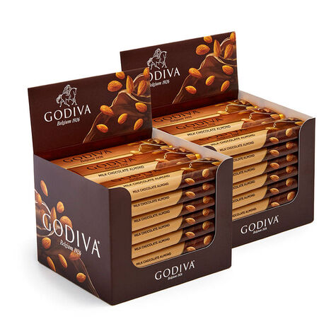 Milk Chocolate Almond Bar, Pack of 48, 1.5 oz each