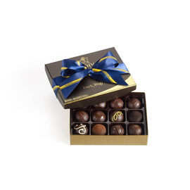 Dark Chocolate Truffles, Striped Tie Ribbon, 12 pc.