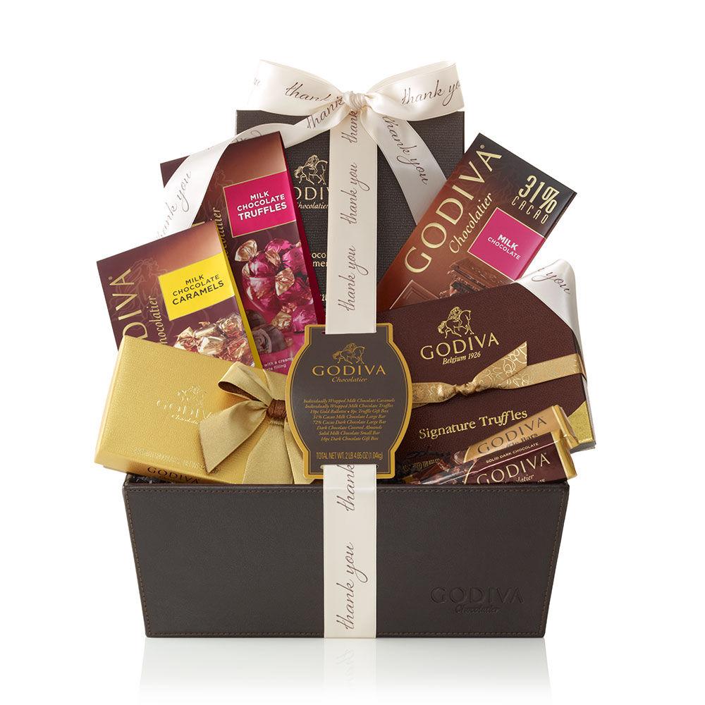Pure Bliss Gift Basket, Thank You Ribbon