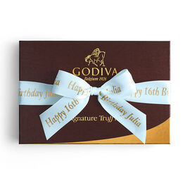 Signature Truffles Gift Box, Personalized Light Blue Ribbon, 24 pc.