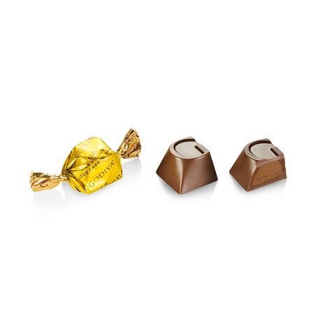Milk Chocolate Caramel G Cube Box, Bulk
