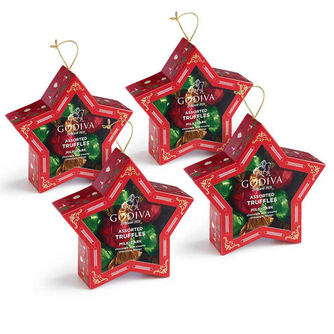 Chocolate-Filled Star Ornament, Set of 4, 10 pc. each