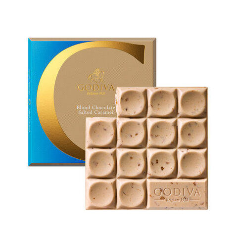G by Godiva Blond Chocolate Salted Caramel Bar, Pack of 20, 2.6 oz each