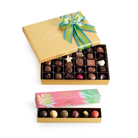 36 pc. Spring Ballotin & 6 pc. Sorbet Truffle Flight Gift Set