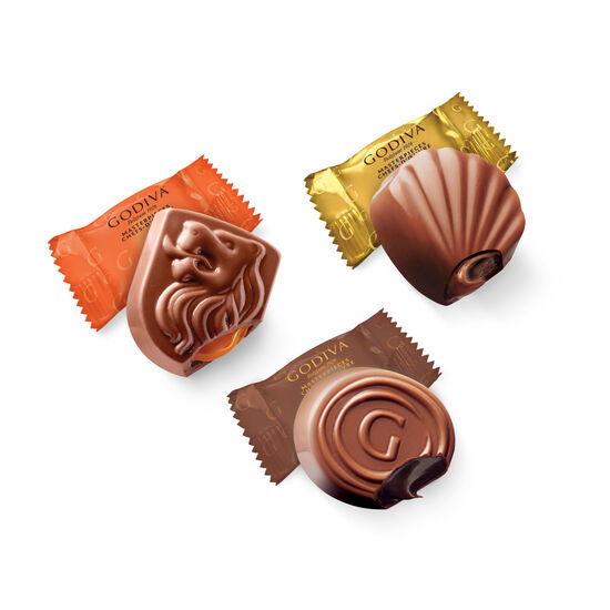 Godiva Masterpieces Assorted Chocolate Box, Set of 4, 17.6 oz each image number null