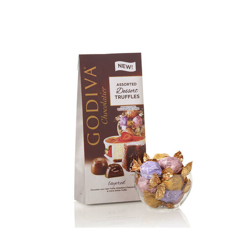Assorted Dessert Chocolate Truffles, Small Bags, Set of 6, 12 pc. each