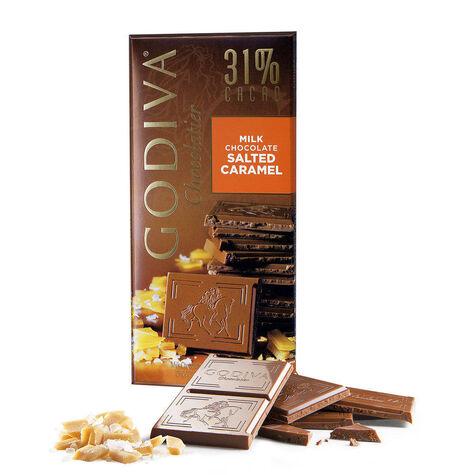 Milk Chocolate Salted Caramel Bar, 31% Cocoa, 3.5 oz.