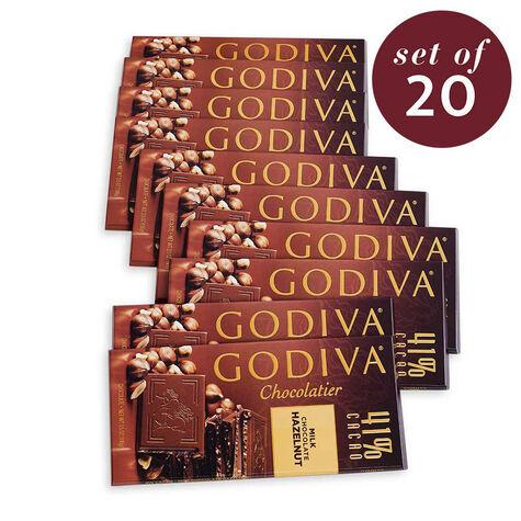 Large 41% Milk Chocolate Hazelnut Bar Set of 20