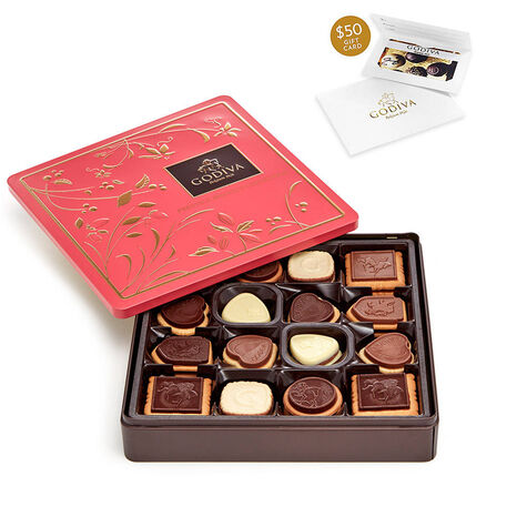 $50 Gift Card & Biscuit Tin, 46 pc.