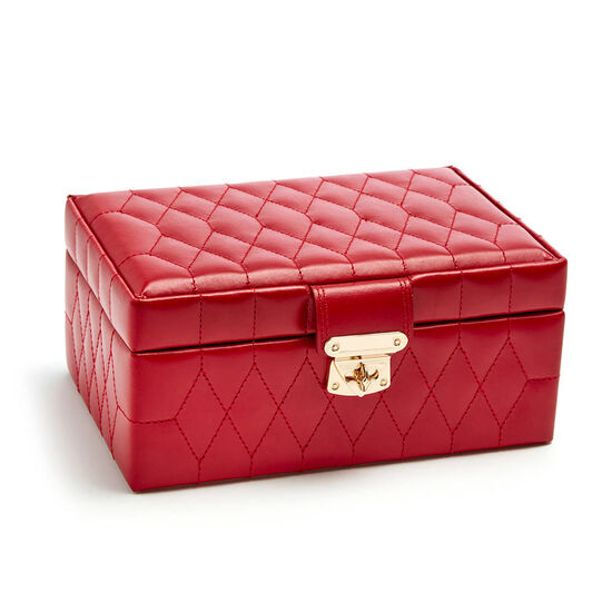 Red Caroline Jewelry Case with Assorted Chocolate Gold Gift Box, 36 pc. image number null