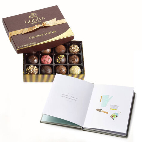 Even More than Yesterday Book with Signature Chocolate Truffles Gift Box, 12 pc.