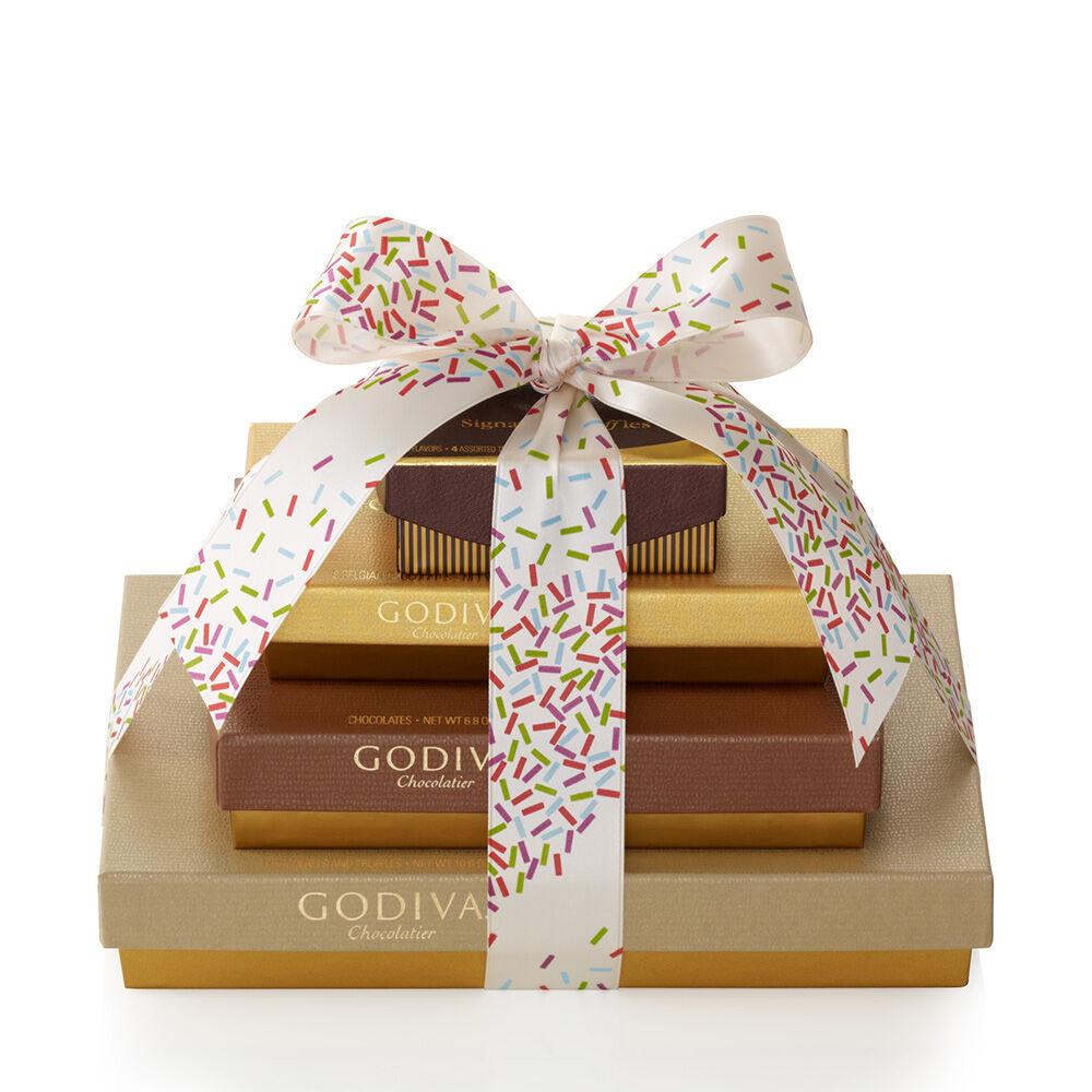 Sweet Surprise Gift Tower, Celebration Ribbon