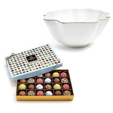 Luxury Gold Bowl with PatisserieTruffle Gift Box, 24 pc.