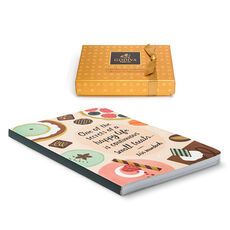 Nothing Heals the Soul Like Chocolate Journal & Gold Discovery Gift Box, 6 pcs.
