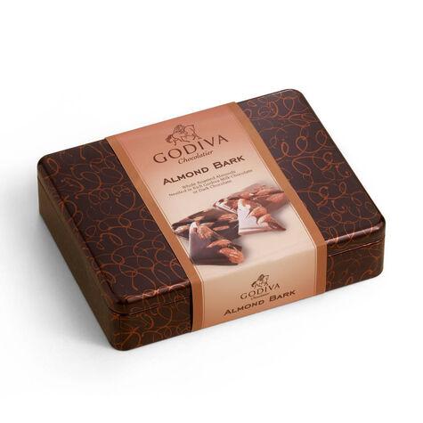 Milk and Dark Almond Bark Gift Tin
