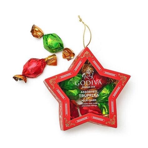 $25 GODIVA Holiday Gift Card & Holiday Truffles Star Ornament, 10 pc.