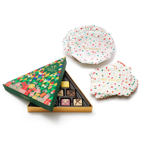 Festive Entertaining Set with Petit Four Seasonal Gift Box, 10 pc.