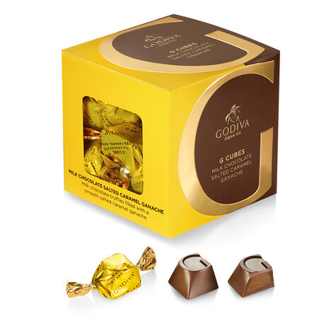 Gold Trim Serving Bowl with set of 3 G Cubes Gift Boxes