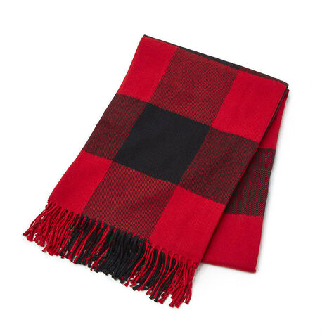 Limited Edition Red Plaid Throw Blanket