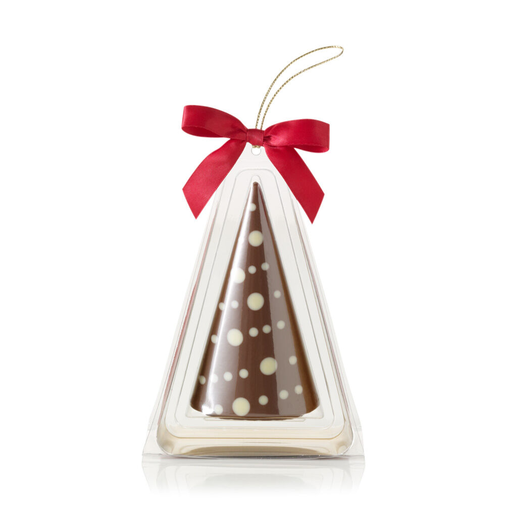 Milk Chocolate Christmas Tree Ornament with Garland Design