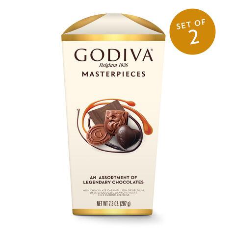 Wrapped Assorted Godiva Masterpieces Chocolate Box, Set of 2