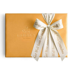 Assorted Chocolate Gold Gift Box, Personalized Ivory Ribbon, 36 pc.