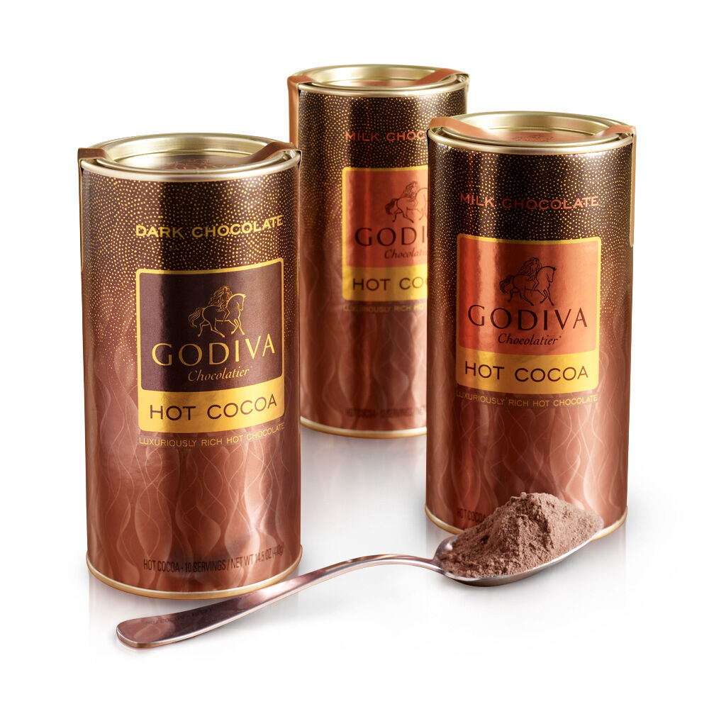 Assorted Hot Cocoa Canister, Set of 3, 10 servings each