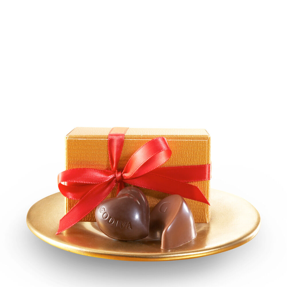 Assorted Chocolate Gold Favor, Red Ribbon, 2 pc.