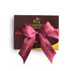 Signature Truffles Gift Box, Personalized Wine Ribbon, 12 pc.
