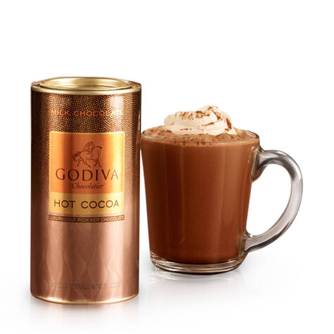 Gold Handle Mug with Milk Chocolate Hot Cocoa & Chocolate Biscuits, 32 pc.