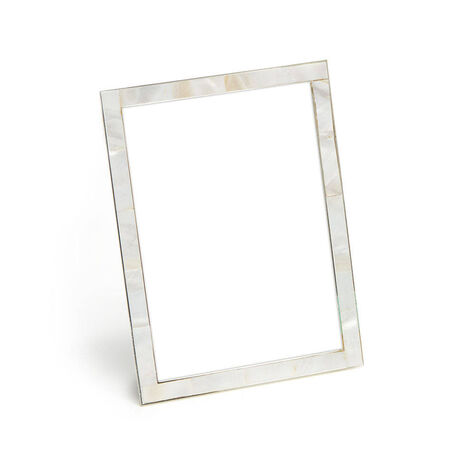 Mother of Pearl Shell Picture Frame, 5x7 with Signature Chocolate Truffles, 12 pc.