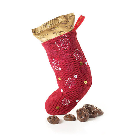 Holiday Stocking with Milk Chocolate Pretzels