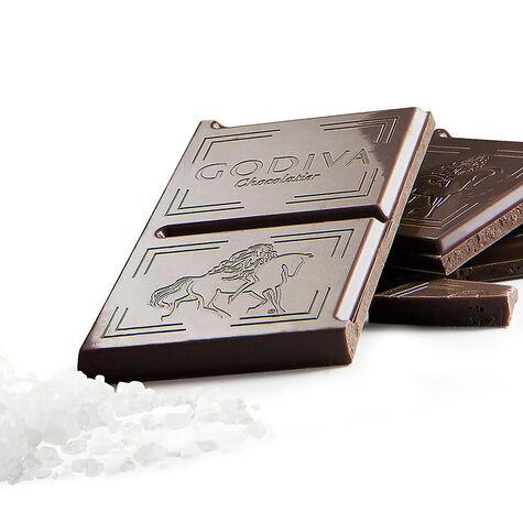 Large 50% Dark Chocolate Sea Salt Bar, Set of 20