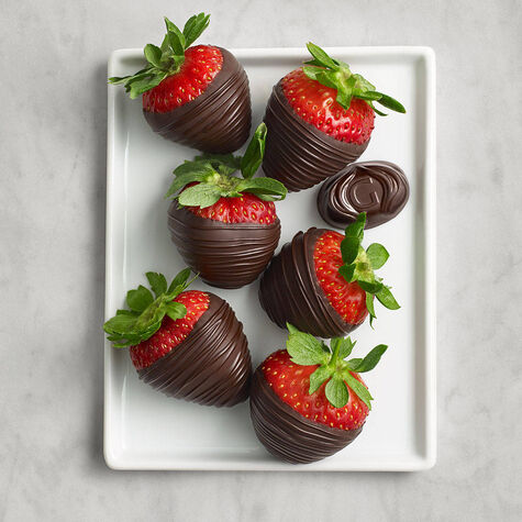 Dark Chocolate Covered Strawberries, Half Dozen