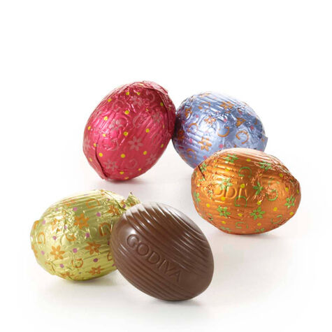 Foil-Wrapped Chocolate Easter Egg Gift Box