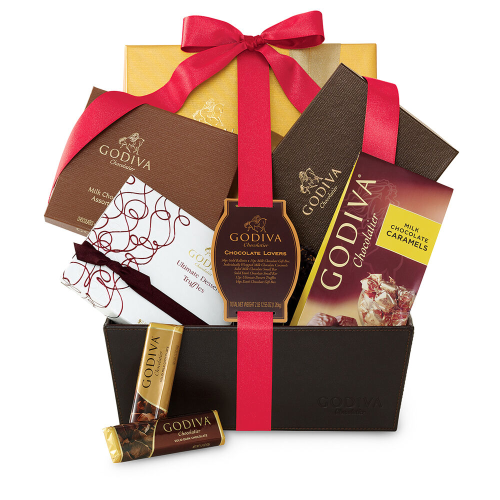 Chocolate Lover's Basket, Valentine's Day Ribbon