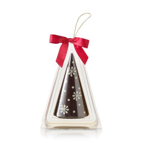 Dark Chocolate Christmas Tree Ornament with Snowflake Design