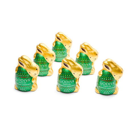 Milk Chocolate Bunnies, Foil Wrapped, Set of 6