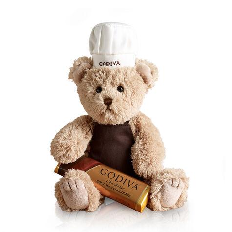 Chef Bear with Milk Chocolate Bar